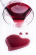 vino  rosso con cuore