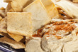 Homemade Crunchy Pita Chips with Hummus
