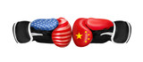Boxing concept on different backgrounds