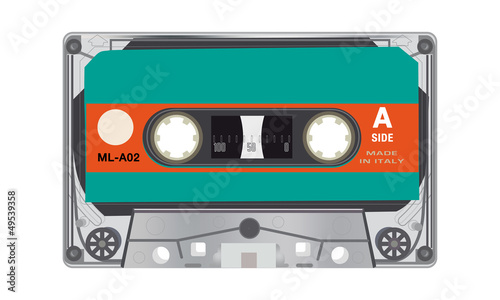 illustration of retro audio cassettes