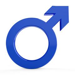 3D male symbols... 3D male signs