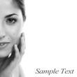 Closeup portrait of beautiful natural woman