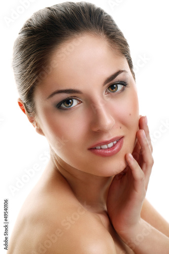 Portrait of beautiful natural woman