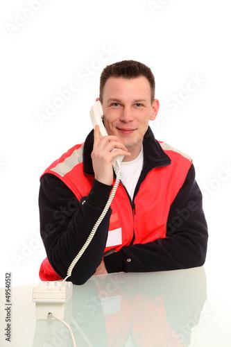 Rettungsdienst am Telefon