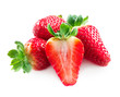 Strawberry. Strawberries Isolated on a White Background