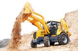 Fototapety Excavator Loader with backhoe works