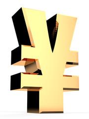 3D Yen Symbol / Sign