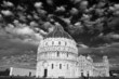 The leaning tower and the baptistery in Pisa