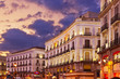 Madrid Spain at sunset
