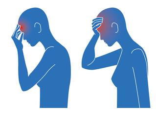 頭痛発熱の症状