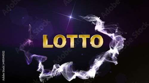 Lotto Blue Text in Particle (2 variation) - HD1080