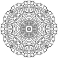 Ornamental lace round. Decorative mandala