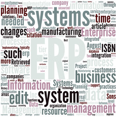 Enterprise resource planning Concept