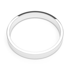isolated silver or platinum ring