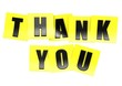Thank you in yellow note