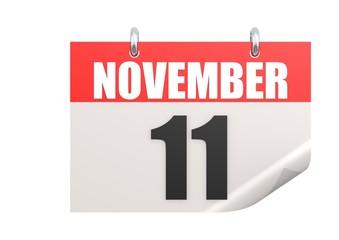 Calendar November 11  Veterans Day