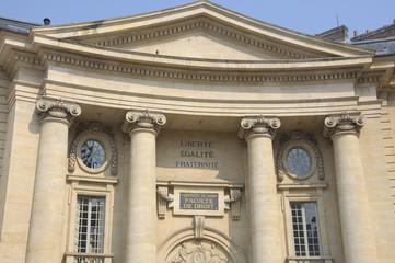 University of Law in Paris. Liberté, Egalité, Fraternité.