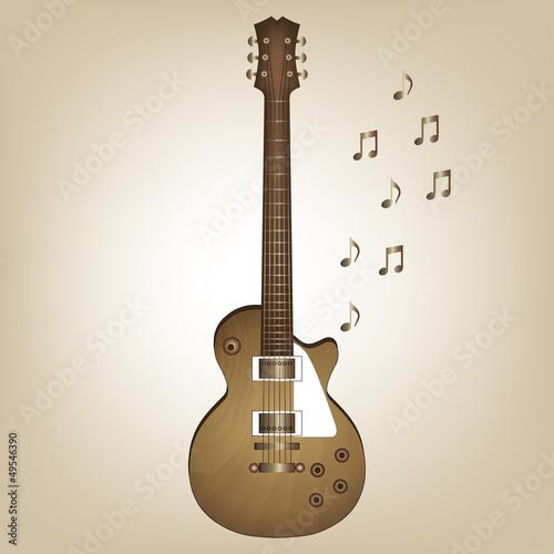 Wooden electro guitar