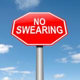 No swearing sign. poster