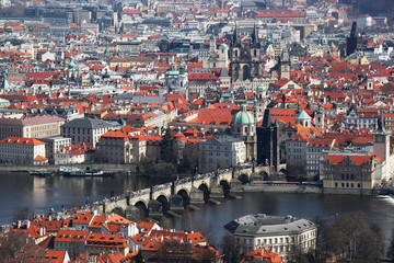 Prague with famous Charles Bridge in Czech Republic