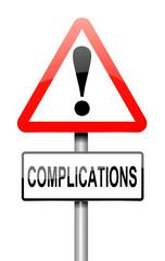 Complication concept.