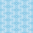Blue Seamless Floral Pattern Background