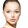 Beauty Model Girl Portrait. Beautiful Woman Face
