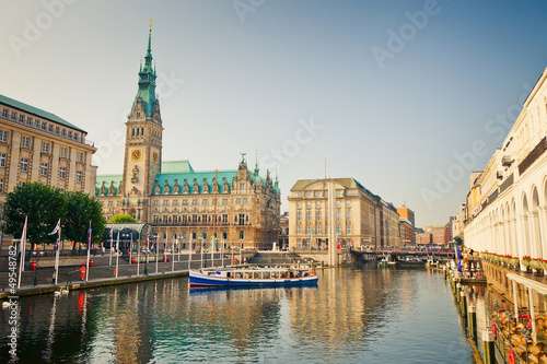canvas print picture Hamburg