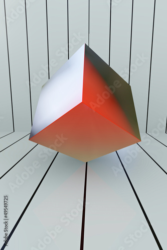 Red Box - Meditation Concept - 3D Render