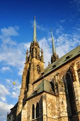 Petrov, gothic cathedral Brno
