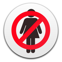 NO WOMEN BUTTON