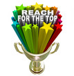 Reach for the Top Gold Trophy Motivation Competition