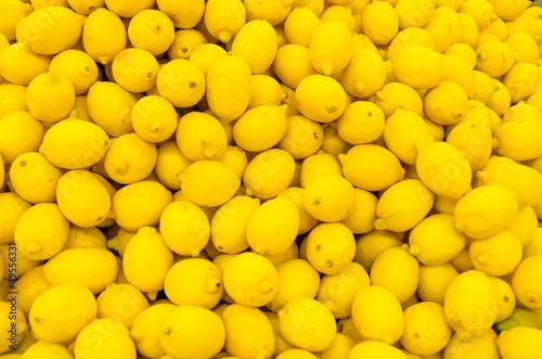 Colorful Display Of Lemons In A Market © radub85