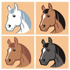 Horse 4 Colors