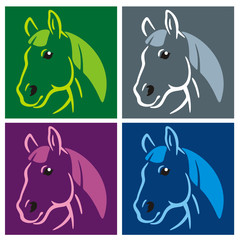 Horse Popart colored