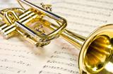 Fototapety Trompete Noten