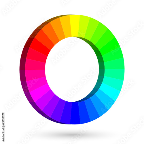 3D RGB color wheel with separate colors