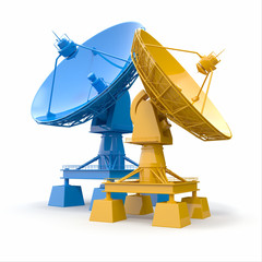 Satellite dish.  Communiation.