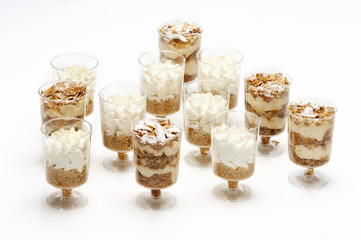 mille feuille in portions