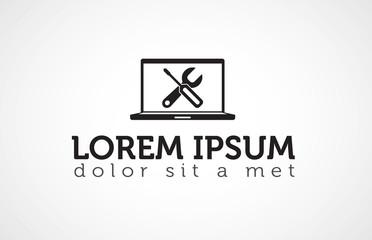 Computer company logo template