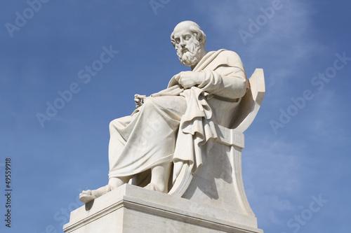 Staande foto Athene Statue of philosopher Plato in Athens, Greece