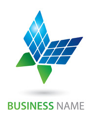 Solar Panel Butterfly Logo Concept