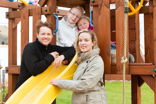 Family on the playground