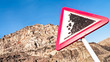 rock slide sign