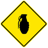 Grenade - yellow sign