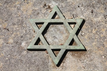 Judaism - Star of David symbol in Rome cemetery