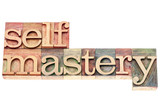 selfmastery word in wood type