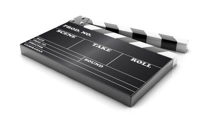 3d cinema clapboard