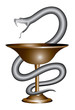 Pharmacy Snake and Cup Symbol