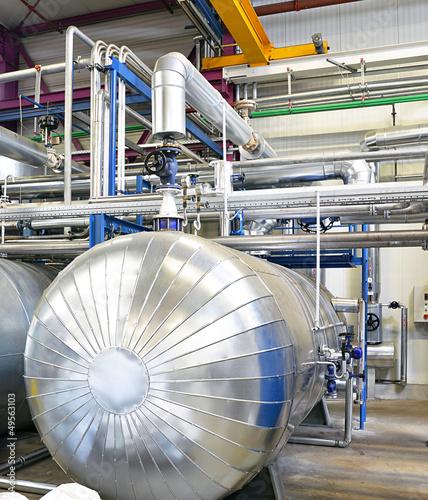 Leinwanddruck Bild Anlagenbau Heizkessel // industry boilers